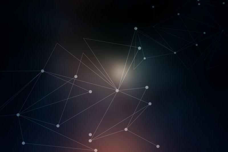 抽象的网络几何表面、线条和点背景-用作数字墙纸和技术背景
