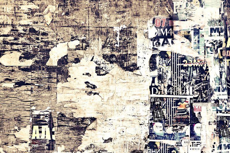 旧广告木海报海报