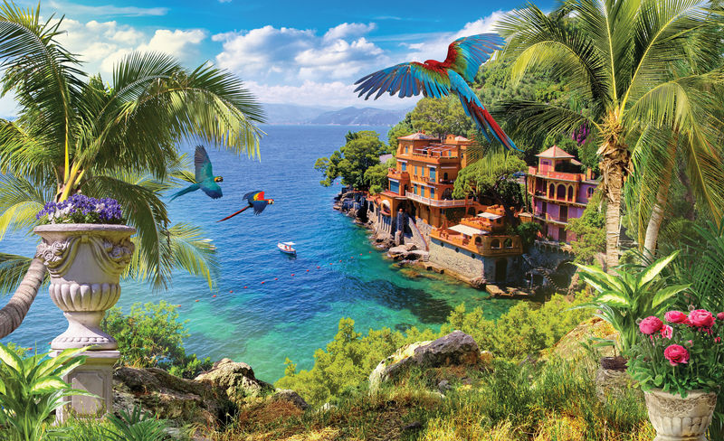加勒比海沿岸小镇