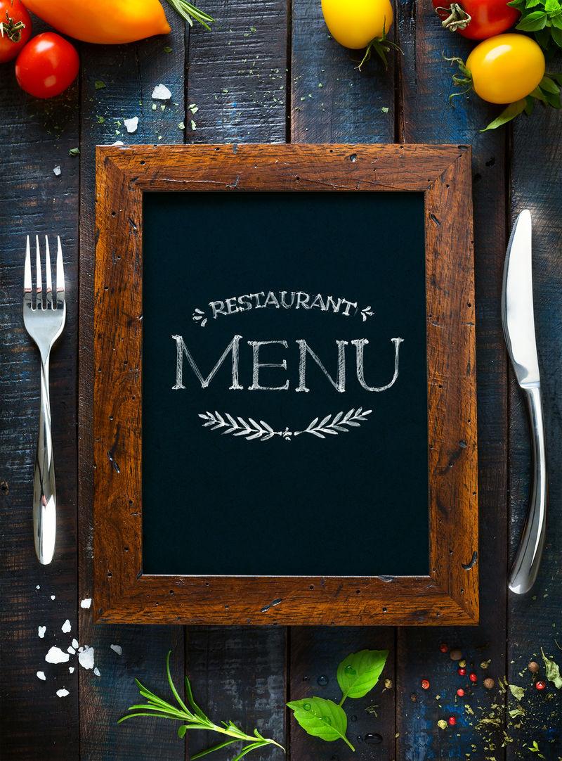 餐厅咖啡菜单模板设计-食品的传单