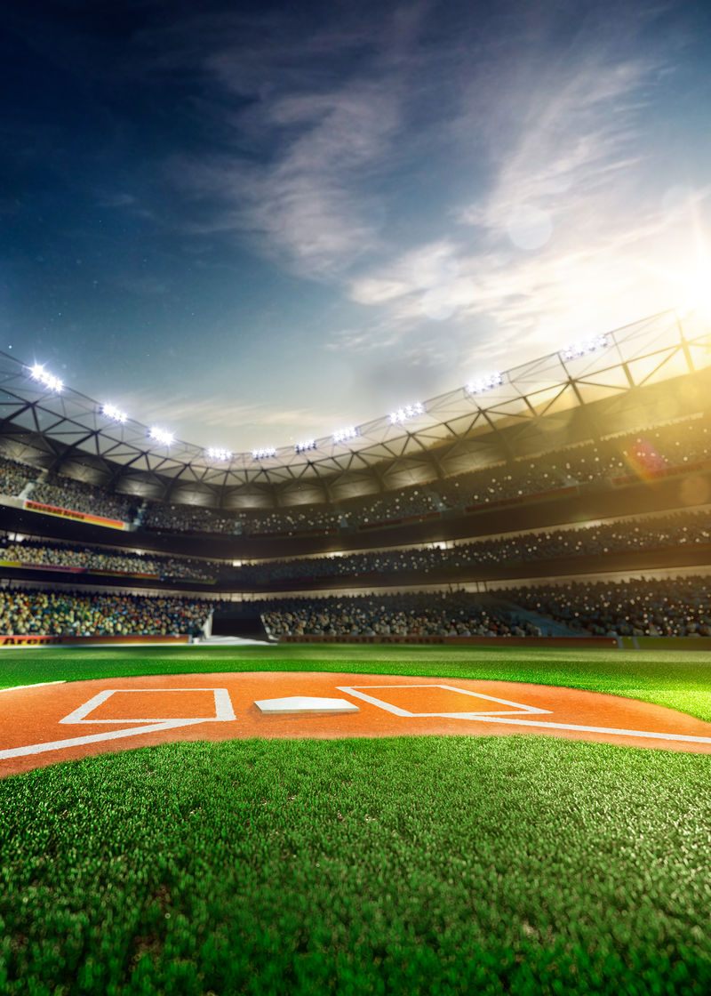 空棒球场三维垂直渲染