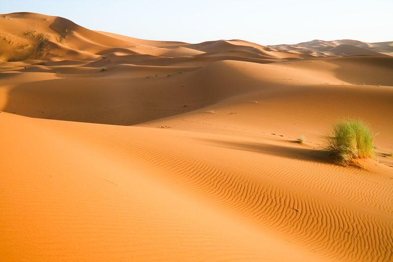 摩洛哥沙漠沙丘