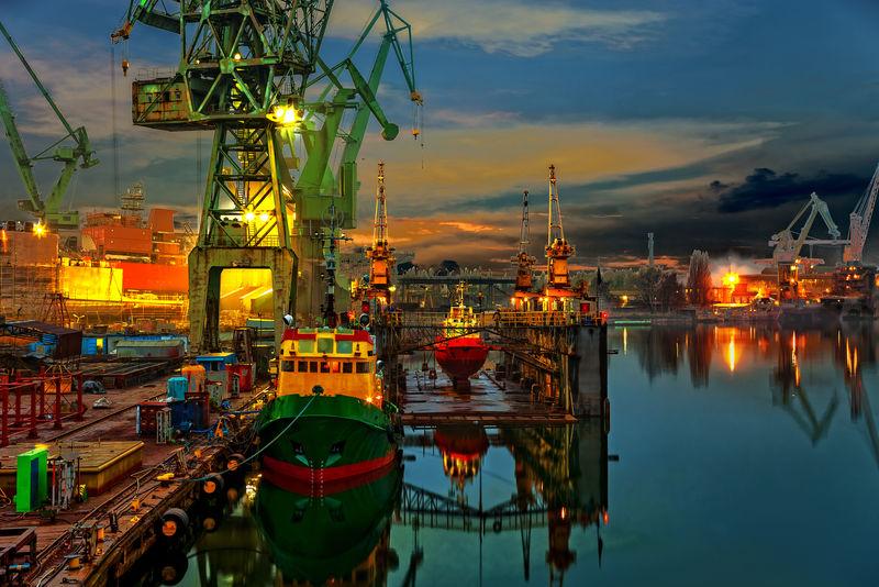 波兰格但斯克造船厂工业视图
