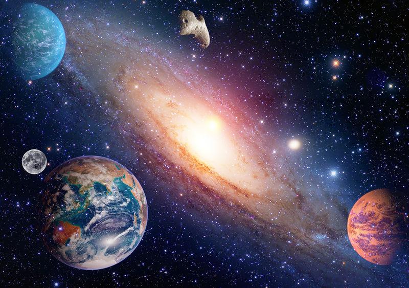 占星学天文学地月空间大爆炸太阳系行星的创造-这张图片的元素由美国宇航局提供