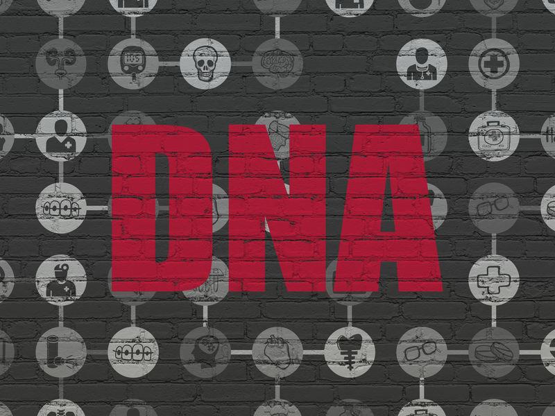 健康理念:DNA壁上背景