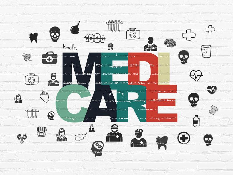 健康理念:医疗保险墙背景
