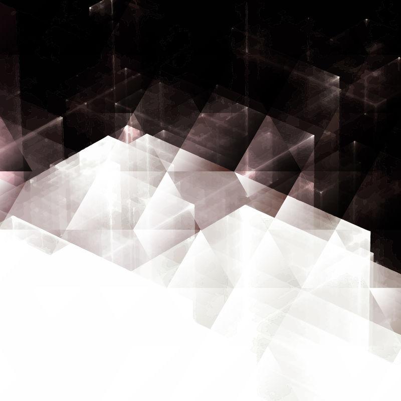 以透明矩形作为现代科技、科学和商业的概念隐喻抽象背景