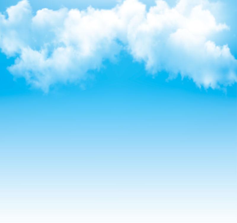 背景是多云的蓝天。矢量。
