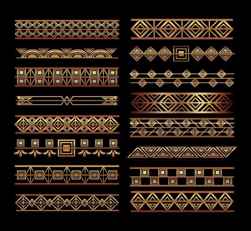 装饰艺术框架和边框