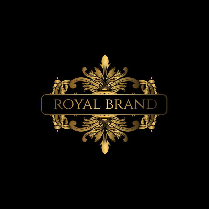 标志豪华,金色。豪华企业皇家品牌