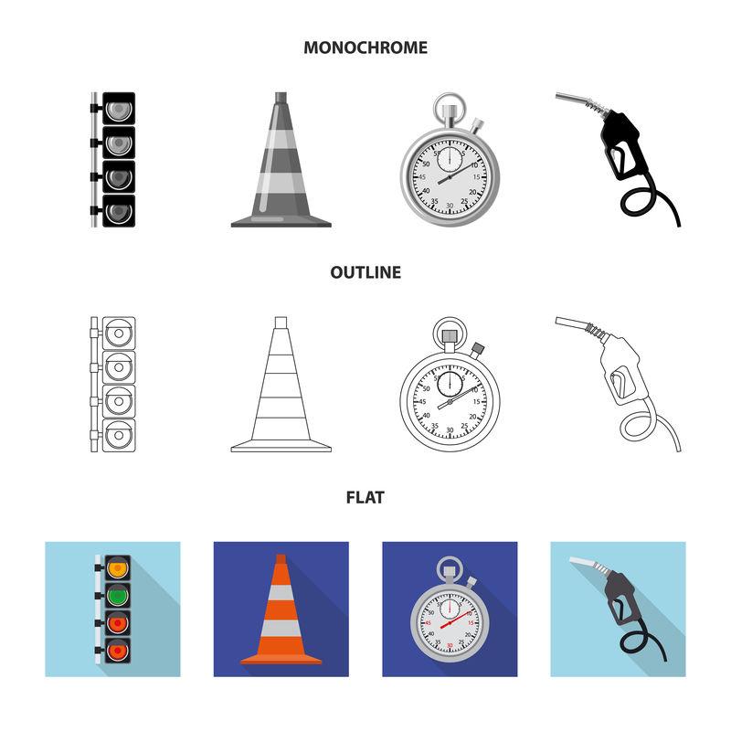 汽车矢量图和拉力标识-收集汽车和赛车的矢量图