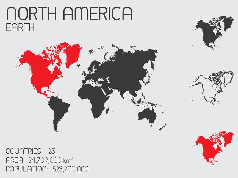 北美国家信息图表元素集