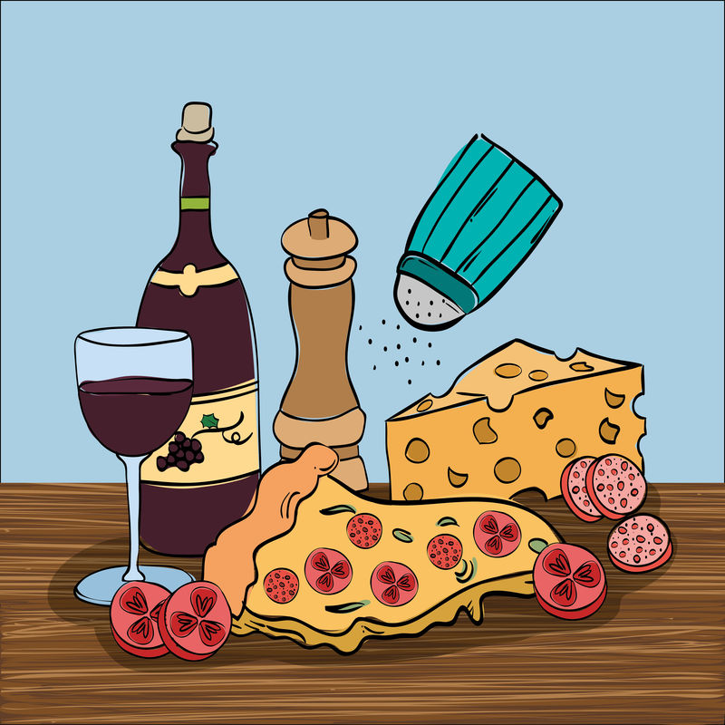 意大利菜菜单葡萄酒