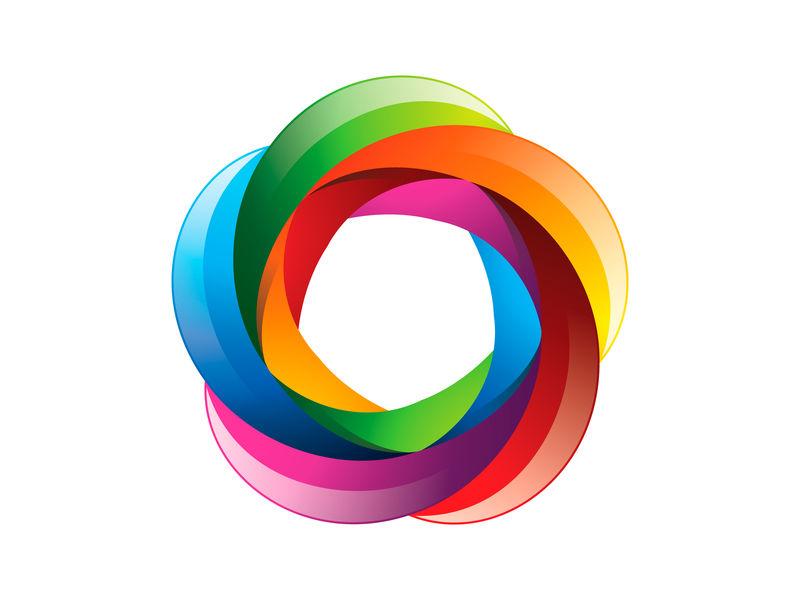 由扭曲的线条形成的字母标志-字体样式-用于应用程序或企业标识的矢量设计模板元素