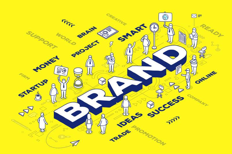 三维人字品牌的矢量图