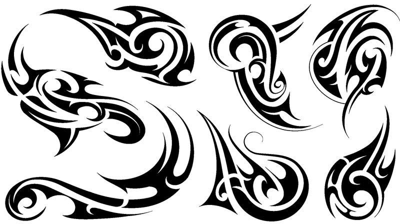 带有毛利人民族元素的部落艺术纹身