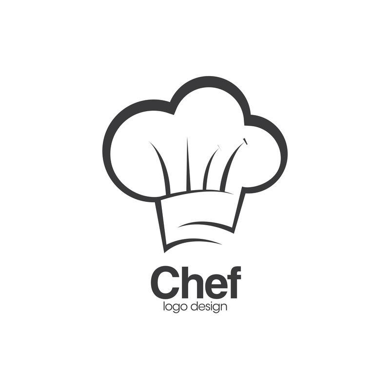 帽子厨师标志和符号矢量模板