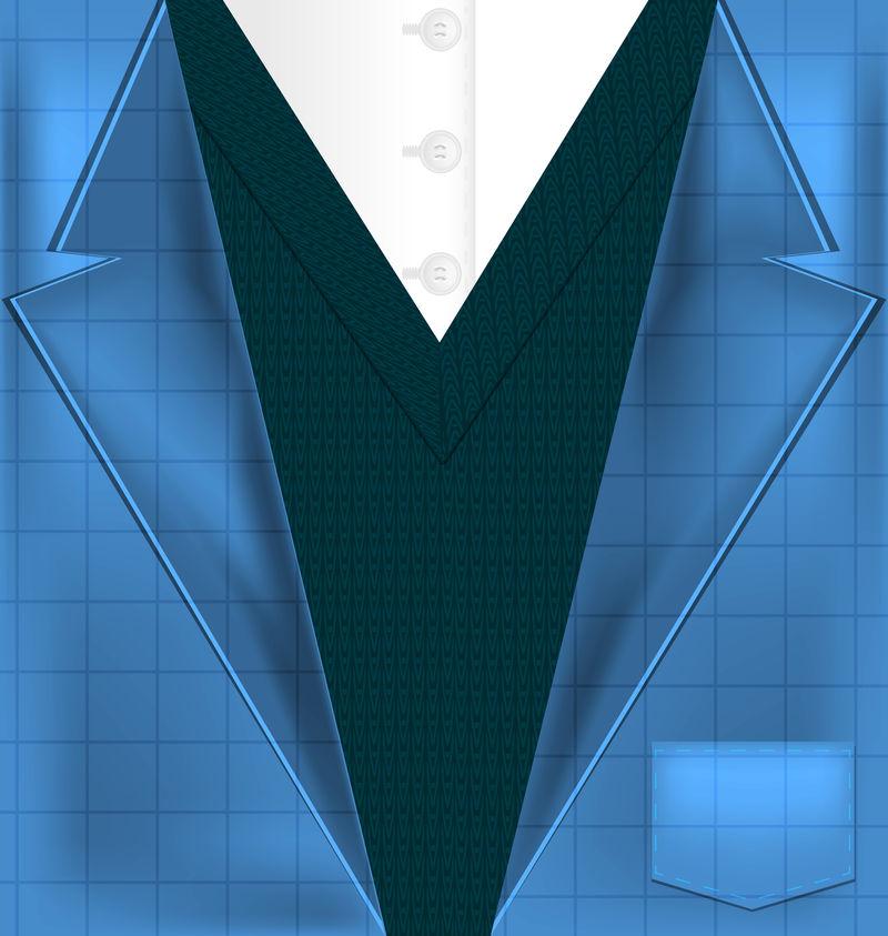 抽象的蓝色西装和背心