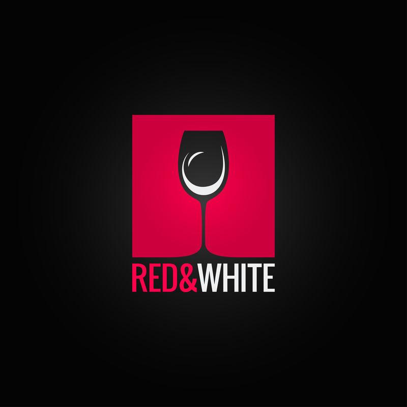 葡萄酒菜单玻璃设计背景