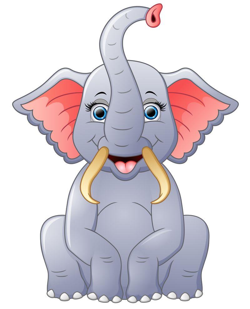 快乐大象卡通坐
