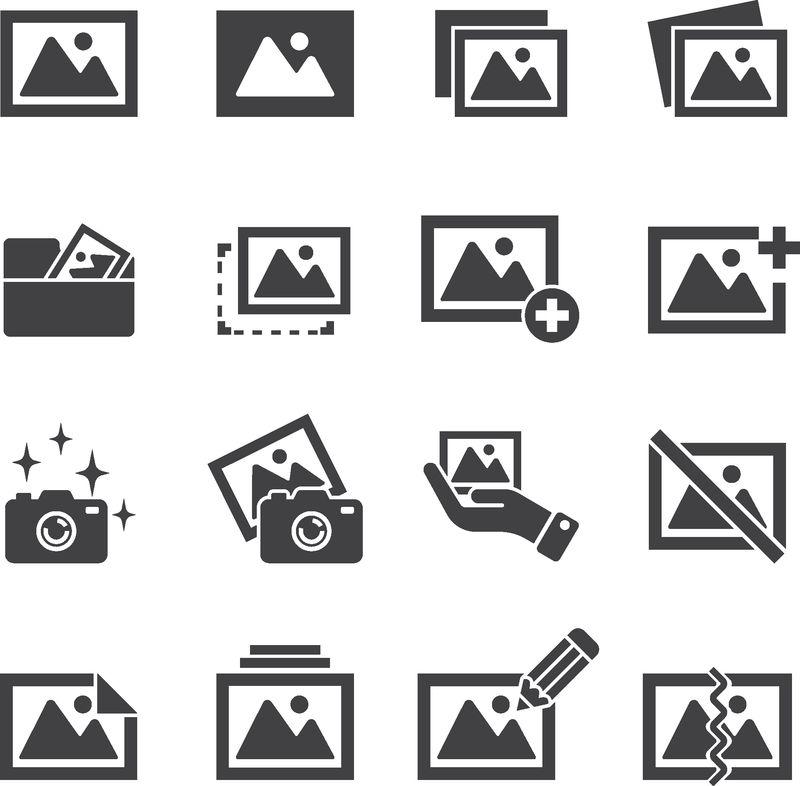 图片-图像图标集/平面图标集设计-外线向量图标集设计