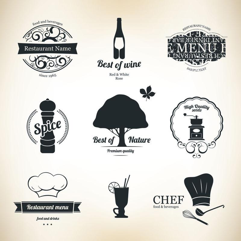 餐厅和咖啡馆标签设置