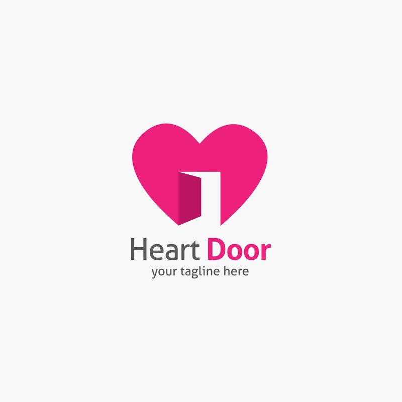 心形标志设计矢量模板-企业品牌标识-平面设计