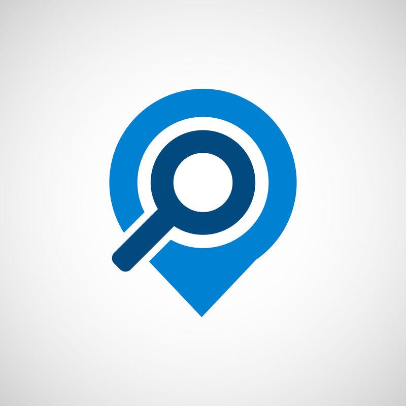 搜索放大镜图标-Lorem Ipsum平面设计JPG