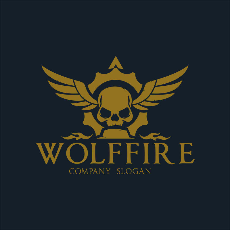 黑暗战士标志、摇滚和纹身品牌标识
