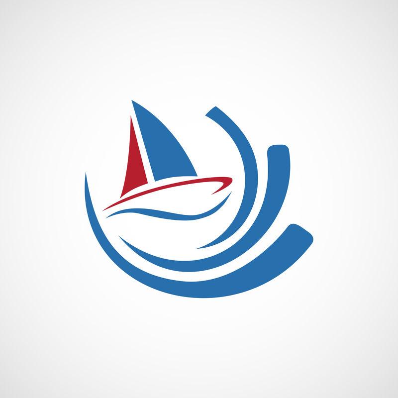 帆船矢量标志