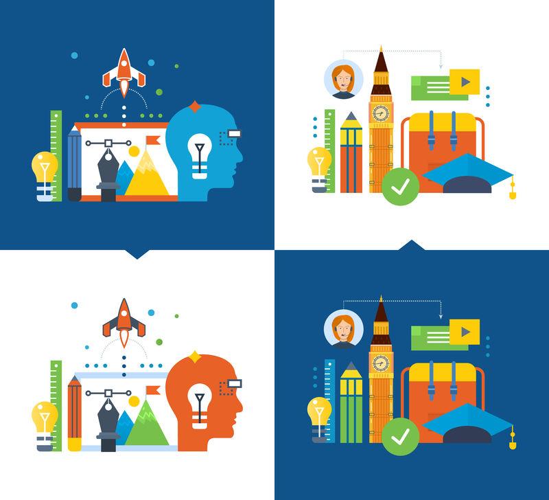 现代教育与远程学习,创造力,创造性思维,视野。