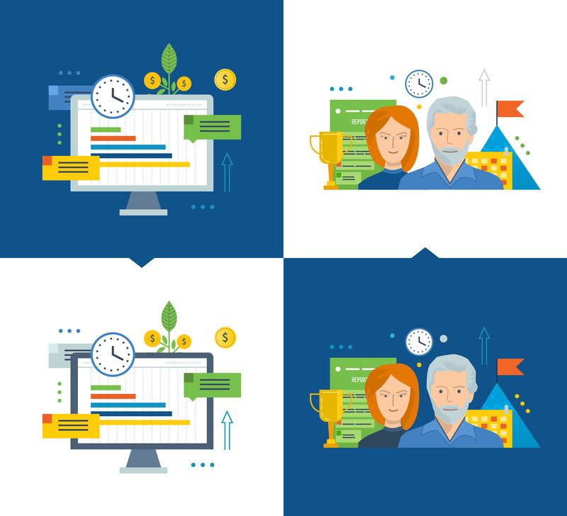 工作流程和高效的项目管理、增长、订单增加、投资