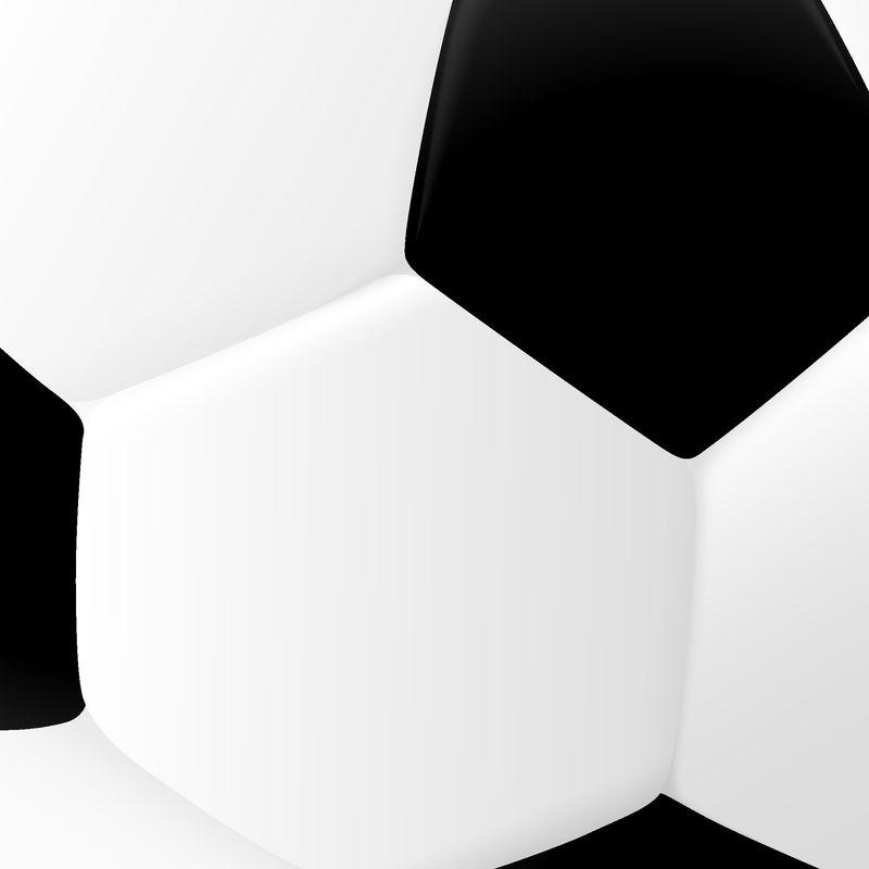 经典黑白足球特写镜头-抽象的运动模式-矢量背景