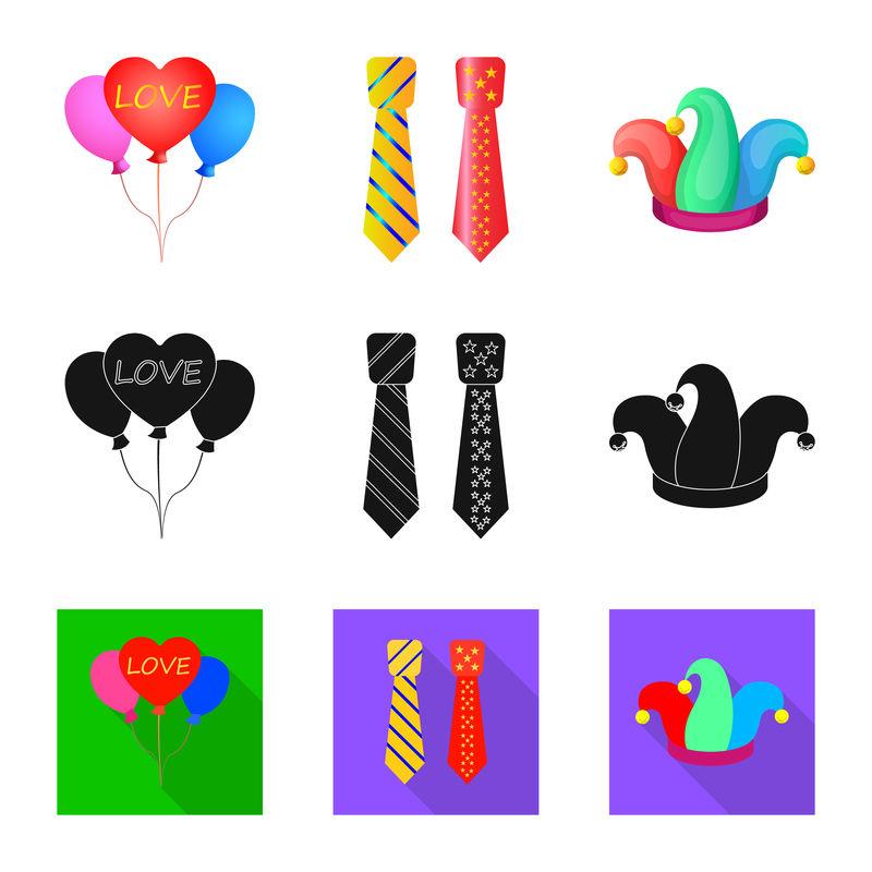 派对和生日图标的矢量设计-收藏聚会和庆祝活动的矢量图标