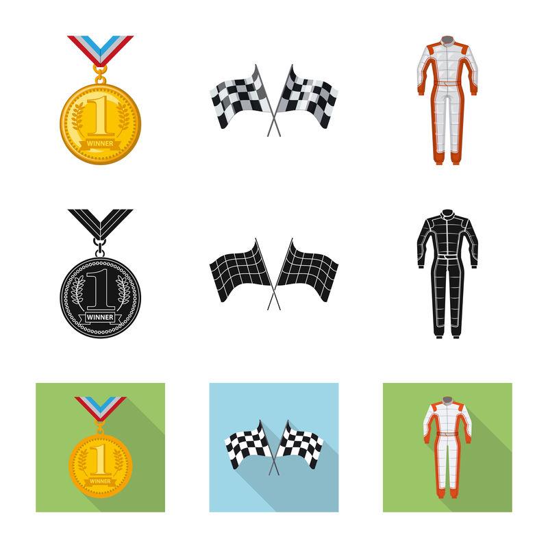 汽车和拉力图标的矢量设计-收集汽车和赛车的矢量图