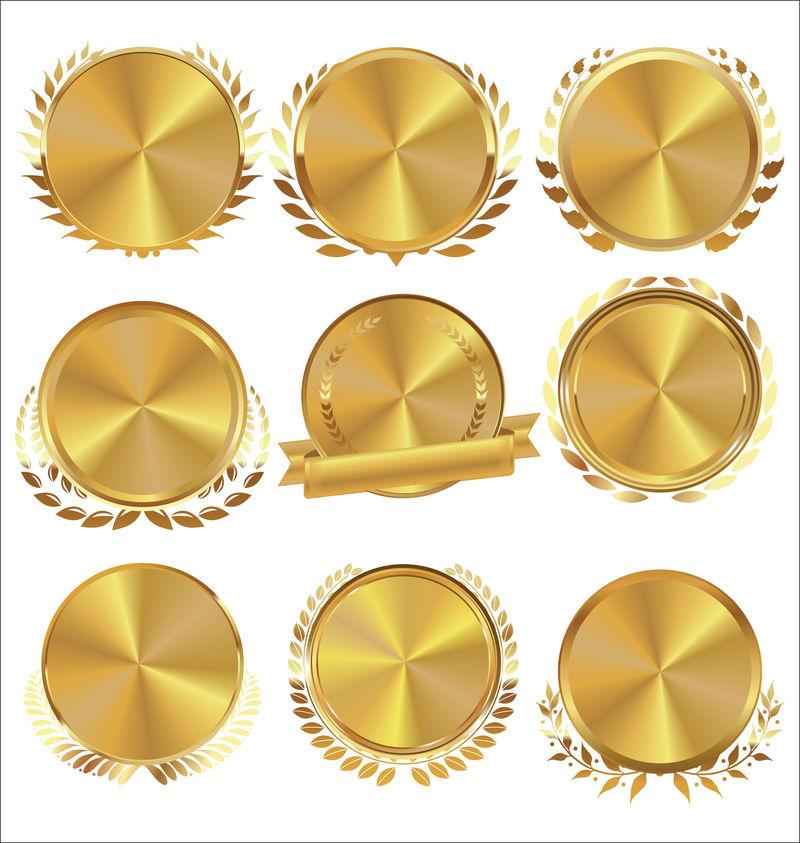 月桂花环系列金质奖章