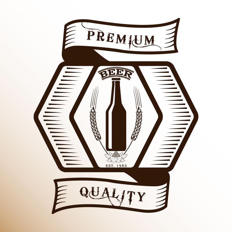 酒单设计-玻璃瓶-葡萄酒图标-酒精饮料-饮料-菜单矢量图