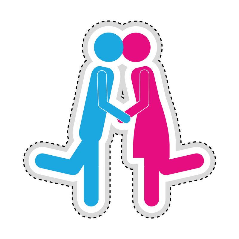 男人女人浪漫的情侣偶像形象