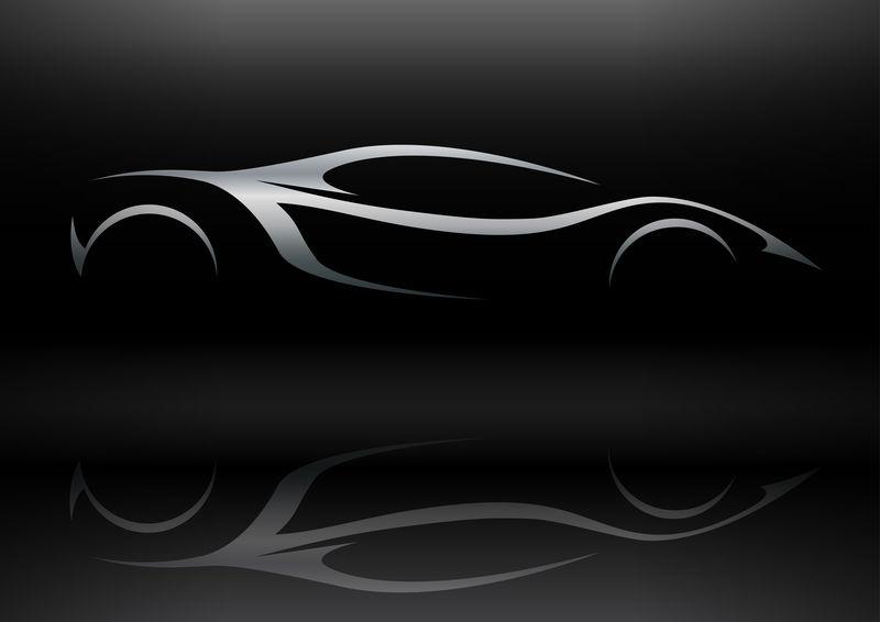 概念跑车车型轮廓1