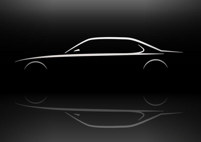 经典轿车轮廓概念设计