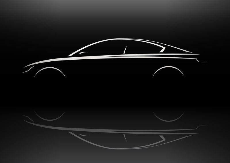 现代运动轿车轮廓概念设计