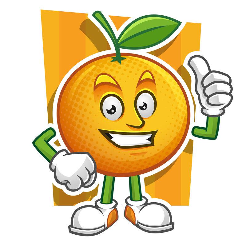 矢量卡通橙子