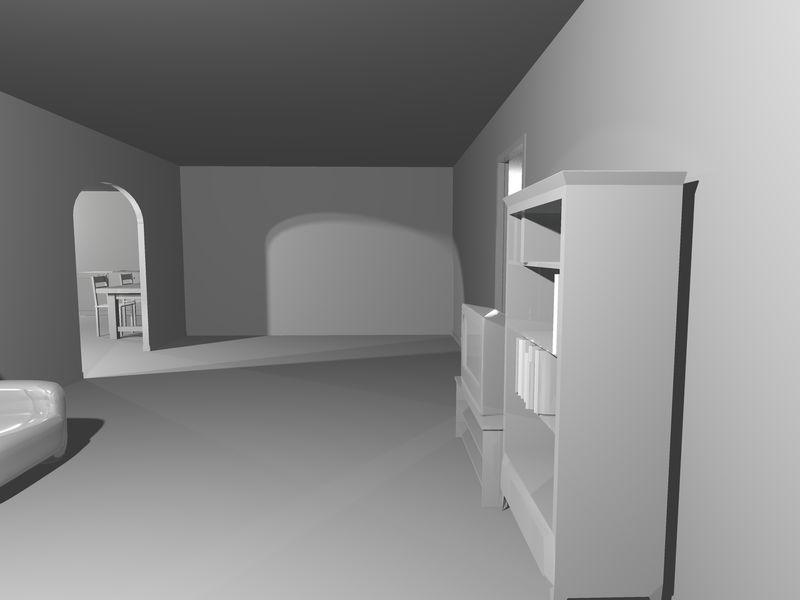 三维白色室内设计