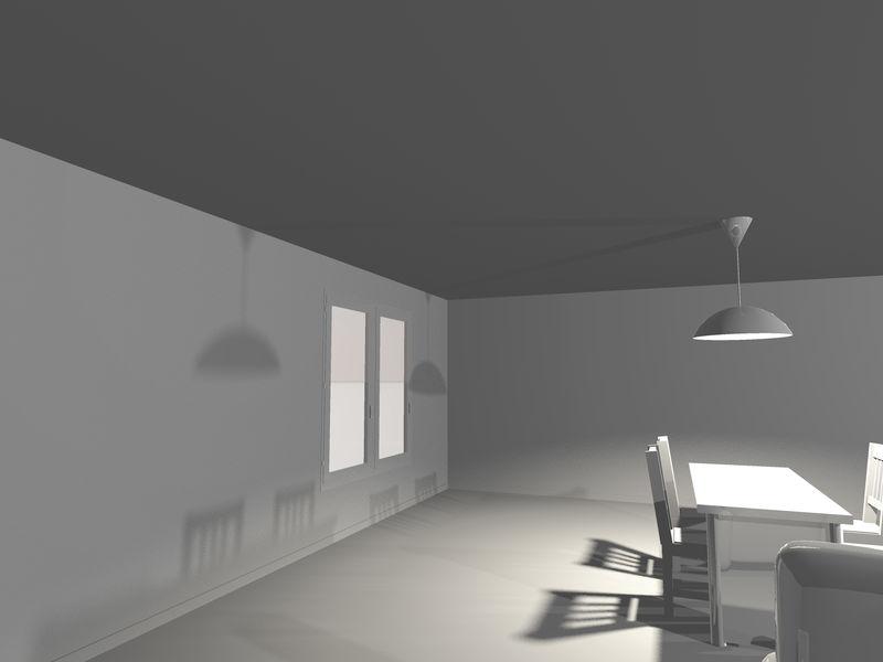 灰色现代厨房概念三维渲染