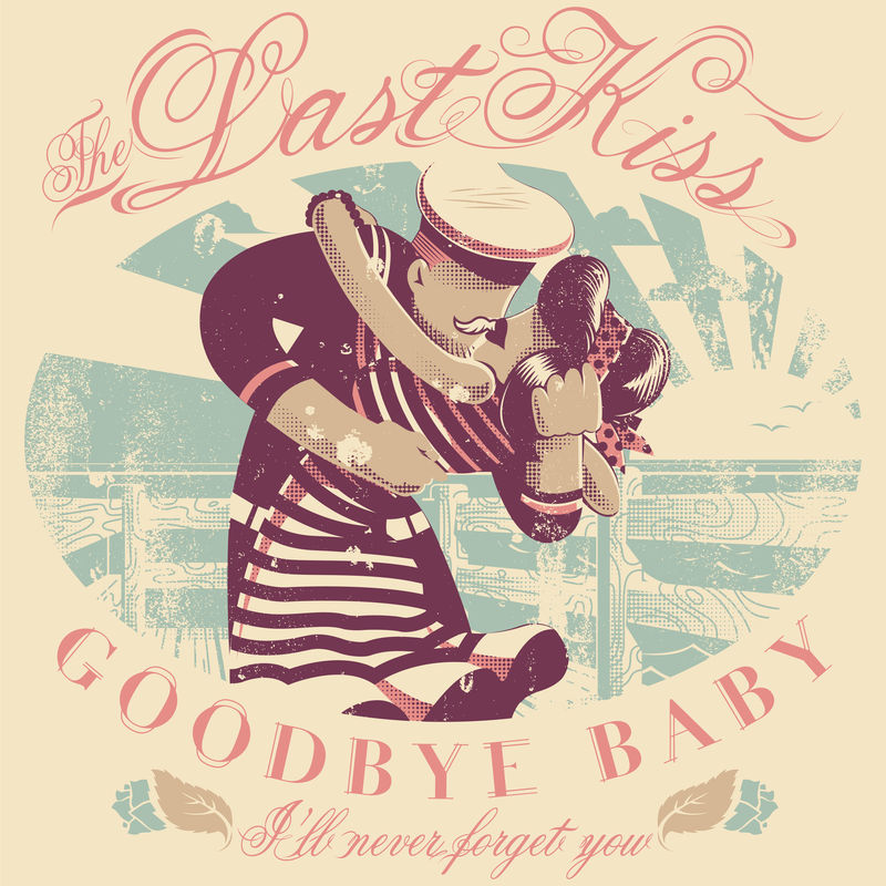 水手亲吻他的爱人