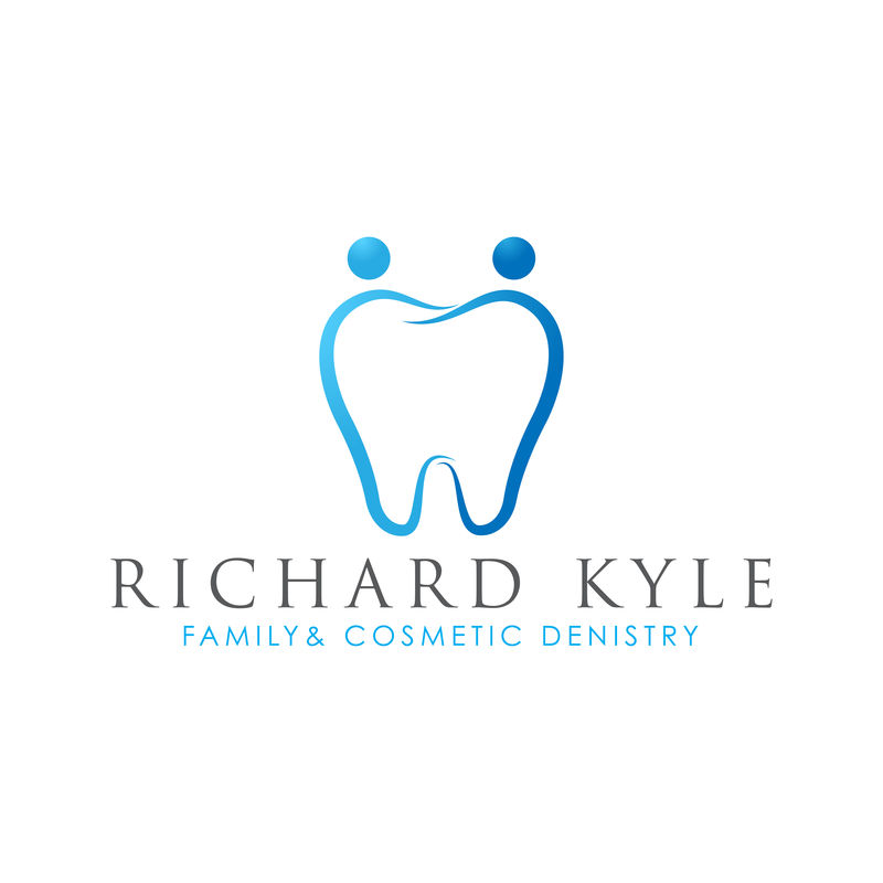 简约优雅的家庭牙科标志。