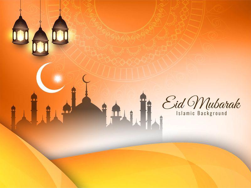抽象伊斯兰节日背景