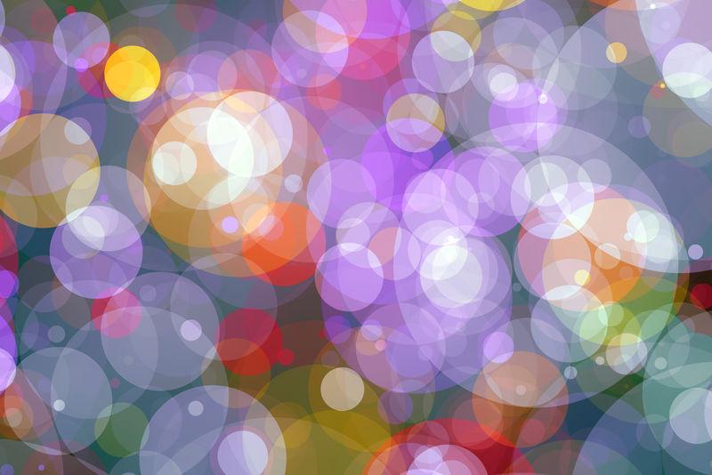 闪闪发光的灯泡背景灯:模糊的圣诞节壁纸装饰概念-节日背景灯:闪闪发光的圆圈点亮的庆祝显示