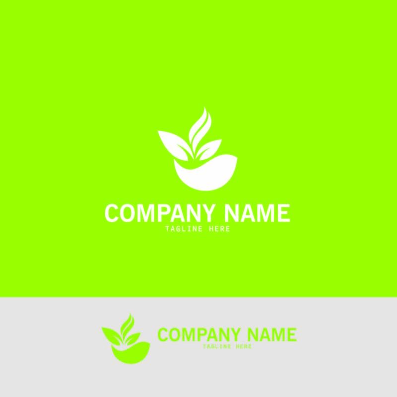 绿叶生态自然元素矢量图标标识