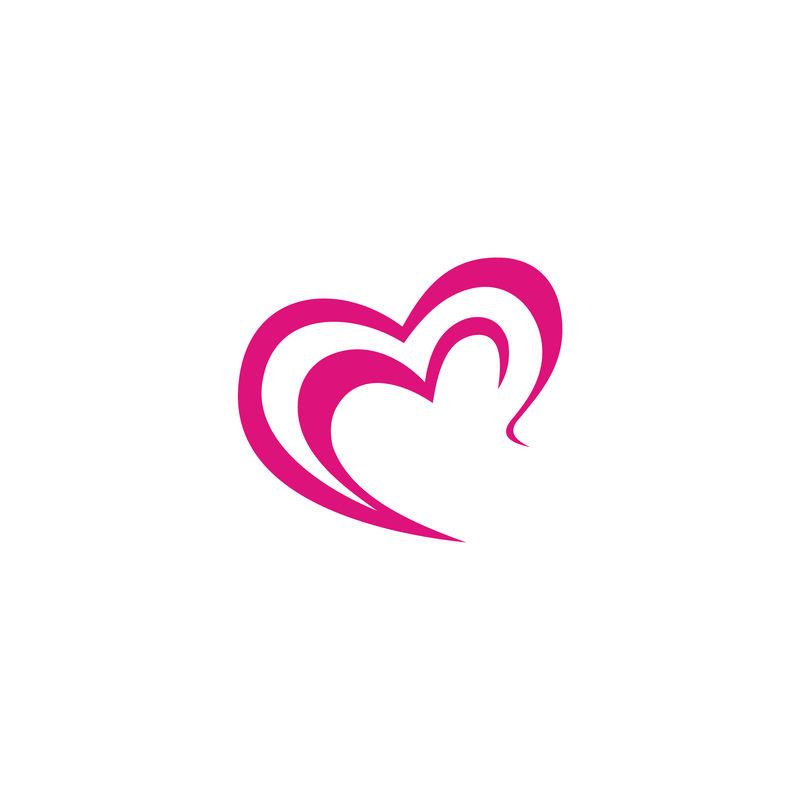心或爱图标符号和符号矢量模板